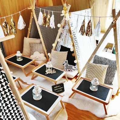Teepee Friends Sleepover Party Goldie Theme