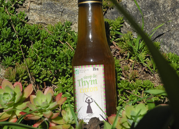 Sirop de fleurs de thym et citron