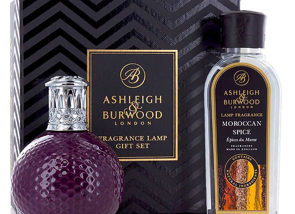 Ashleigh & Burwood Fragrance Lamp Set - Damson in Distress & Moroccan Sp