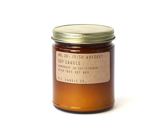 P.F. CANDLE CO. NO.30 Irish Whiskey Standard Soy Jar Candle