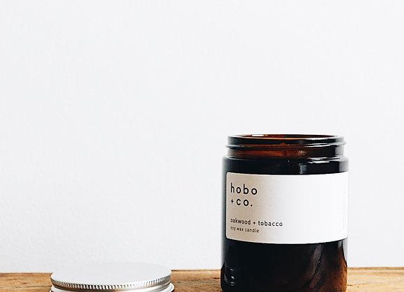 Hobo & Co  - Oakwood + Tobacco Medium Jar Candle