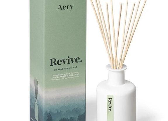 Aery Mindful Reed Diffuser - Revive - Cedar Amber Bergamot 200ml