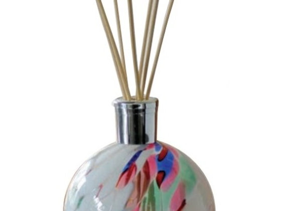 Mouth-Blown Glass White Reed Diffuser - Choice of fragrance