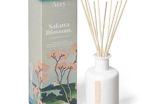 Aery Sakura Blossom Reed Diffuser - Cherry Citrus Peach 200ml