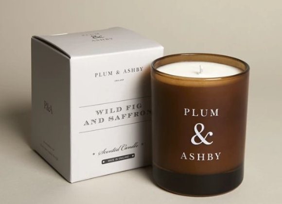 Plum & Ashby Wild Fig and Saffron Candle 60hrs