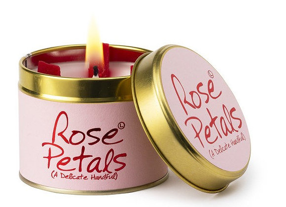 """Lily Flame """"Rose Petals"""" Scented Tin Candle"""
