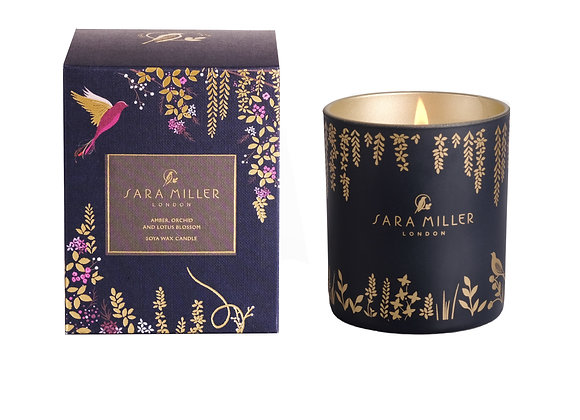 SARA MILLER -  AMBER, ORCHID & LOTUS SCENTED CANDLE