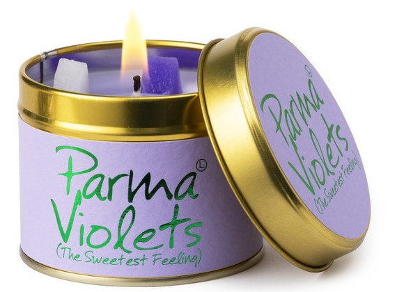 "Lily Flame ""Parma Violets"" Scented Tin Candle"