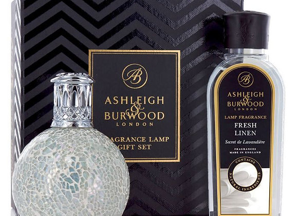 Ashleigh & Burwood Fragrance Lamp Set - Pearl & Fresh Linen