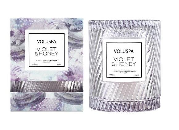 VOLUSPA Macaron Icon Cloche Candle - Violet & Honey - 240g