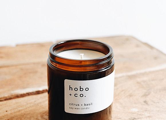 Hobo & Co  - Citrus & Basil Medium Jar Candle