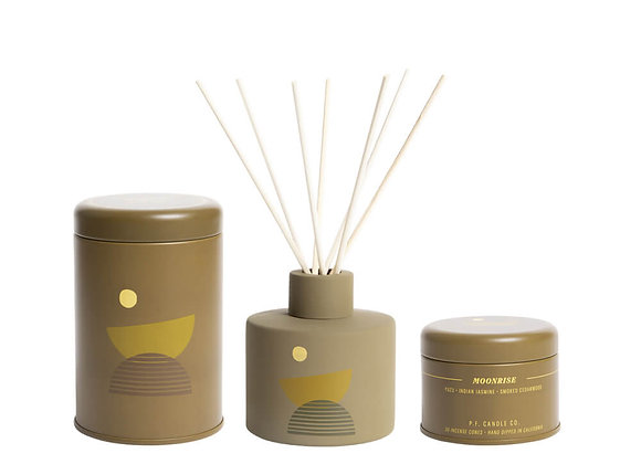 P.F. CANDLE CO. Moonrise Bundle Candle, Diffuser & Incense Cones