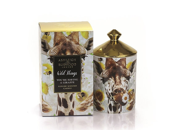 Ashleigh & Burwood Wild Things Candle - You're Having A Giraffe - Orange Blossom