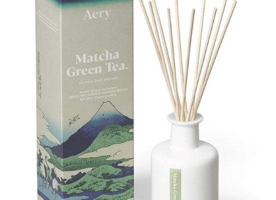 Aery Matcha Green Tea Reed Diffuser - Citrus Precious Woods 200ml
