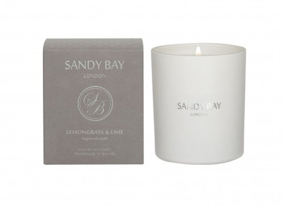 Sandy Bay London Lemongrass & Lime Scented Candle