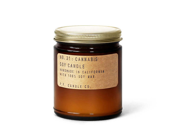P.F. CANDLE CO. NO.31 Cannabis Standard Soy Jar Candle