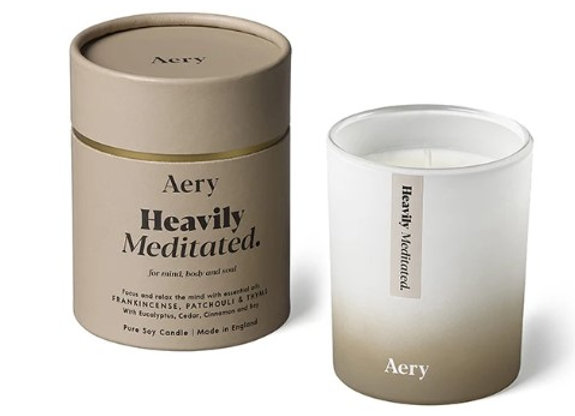 Aery Aromatherpy Candle Heaviliy Meditated - Frankincense Patchouli Thyme 200g