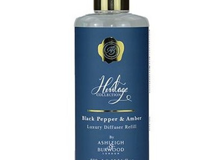 Ashleigh & Burwood - Heritage Luxury Diffuser Oil - Black Pepper & Amber 300ml