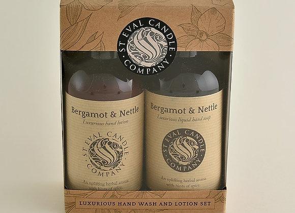 St Eval Bergamot & Nettle Luxurious Hand Wash & Lotion Set