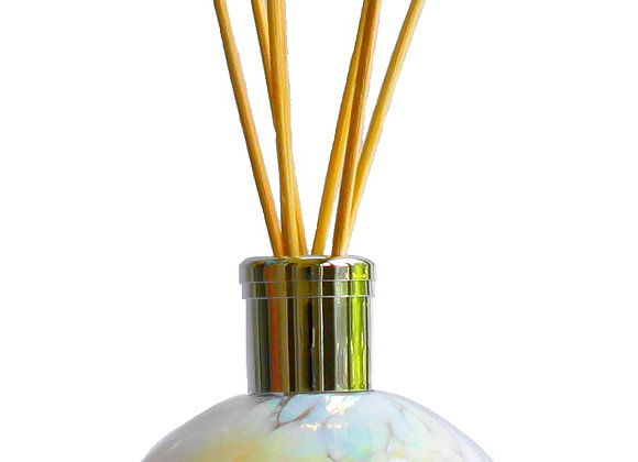 Mouth-Blown Chic White Glass Globe Reed Diffuser - Choice of fragranc