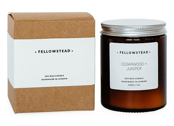 Fellowstead Cedarwood + Juniper Botanical Candle