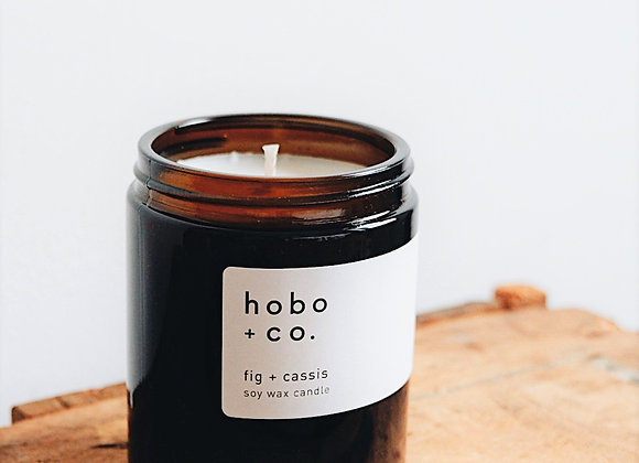 Hobo & Co  - Fig & Cassis Medium Jar Candle