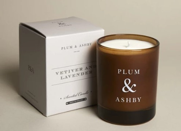 Plum & Ashby Vetiver and Lavender Candle 60hrs