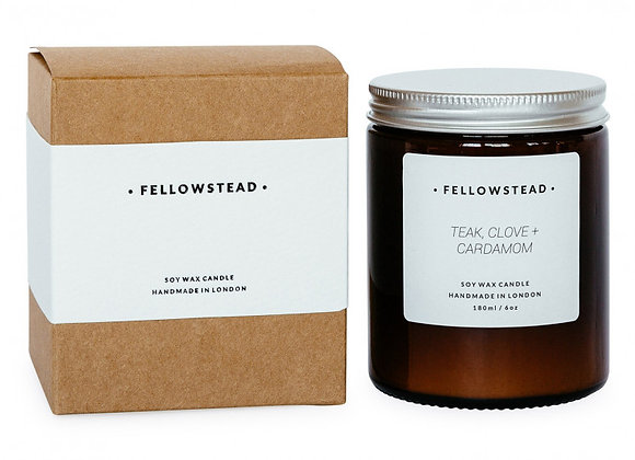 Fellowstead Teak, Clove + Cardamom Botanical Candle
