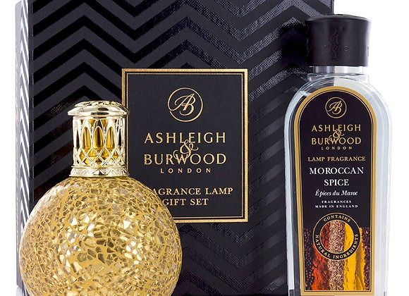 Ashleigh & Burwood Fragrance Lamp Set - Golden Orb & Moroccan Spice