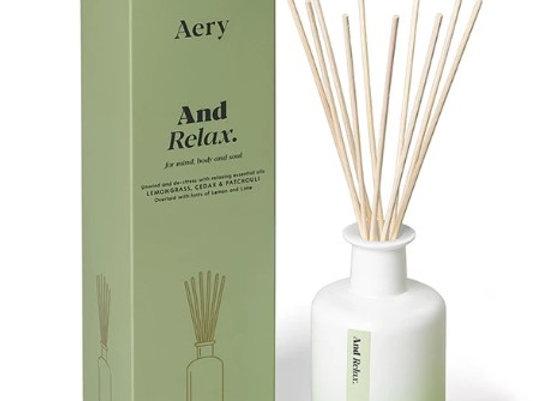 Aery Aromatherpy & Relax Reed Diffuser - Lemongrass Cedar Patchouli 200ml