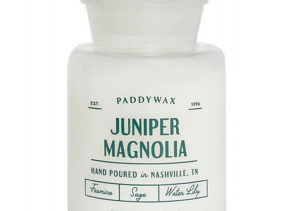 Paddywax Apothecary Farmouse 8oz Glass Candle - Juniper & Magnolia