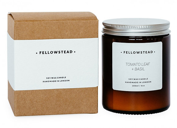 Fellowstead Tomato Leaf + Basil Botanical Candle