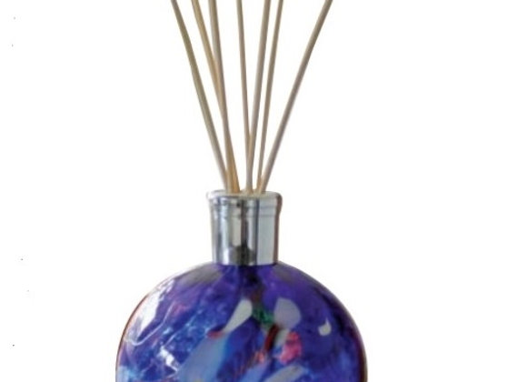 Mouth-Blown Glass Sapphire Blue Reed Diffuser - Choice of fragrance