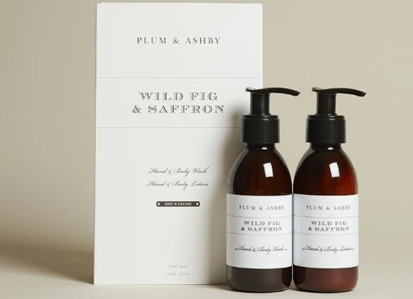 Plum & Ashby Duo Gift Set Wild Fig & Saffron Body Wash and Lotion