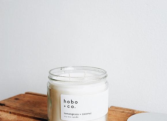 Hobo & Co  - Lemongrass & Coconut Large Jar Candle
