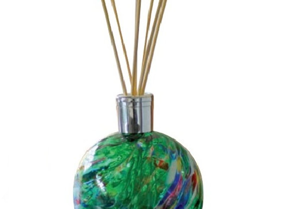 Mouth-Blown Glass Emerald Green Reed Diffuser - Choice of fragrance