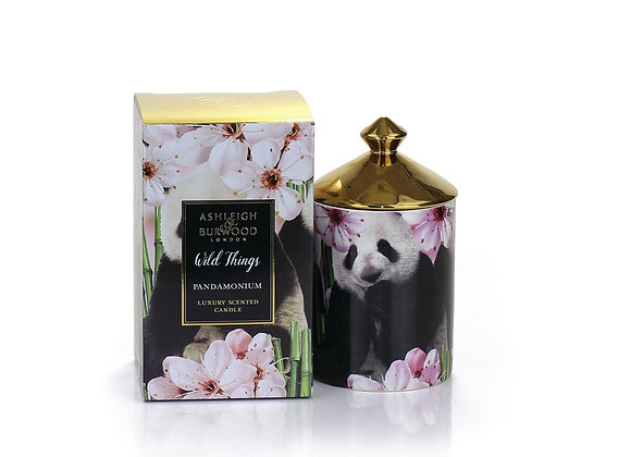 Ashleigh & Burwood Wild Things Candle - Pandamonium - Green Bamboo