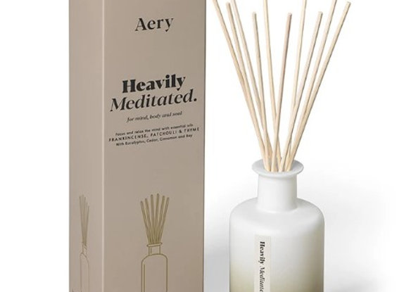 Aery Aromatherpy Heaviliy Meditated Reed Diffuser - Frankincense Patchouli Thyme