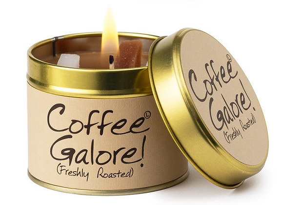 """Lily Flame """"Coffee Galore"""" Scented Tin Candle"""