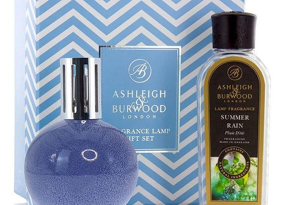 Ashleigh & Burwood Fragrance Lamp Set -  Blue Speckle & Summer Rain
