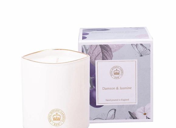Kew Aromatics Damson & Jasmine Ceramic Candle