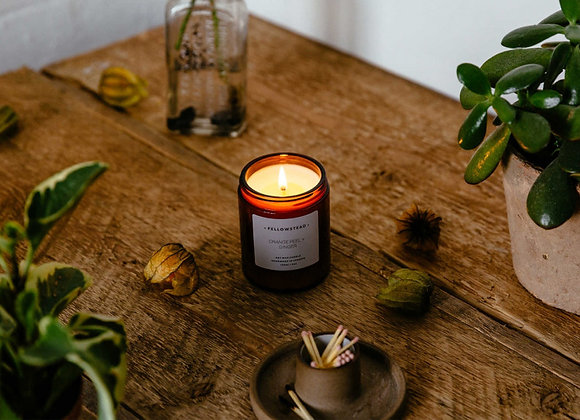 Fellowstead Orange Peel + Ginger Botanical Candle