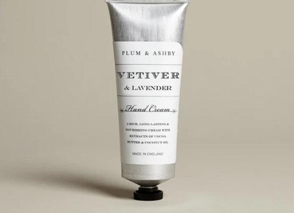 Plum & Ashby Vetiver & Lavender Hand Cream 75ml