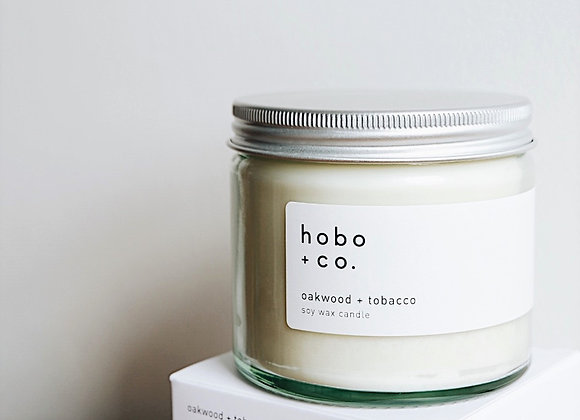 Hobo & Co  - Oakwood + Tobacco Large Jar Candle