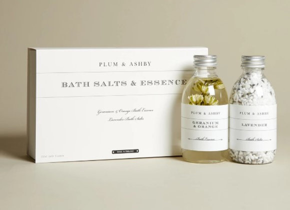 Plum & Ashby Duo Gift Set Bath Salts & Essence