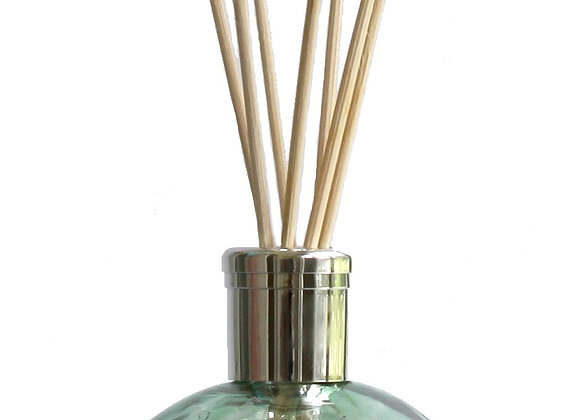 Mouth-Blown Chic Green Glass Globe Reed Diffuser - Choice of fragrance