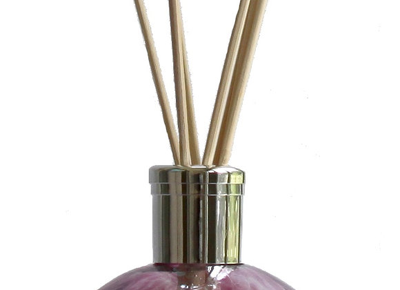 Mouth-Blown Chic Amethyst Glass Globe Reed Diffuser - Choice of fragrance