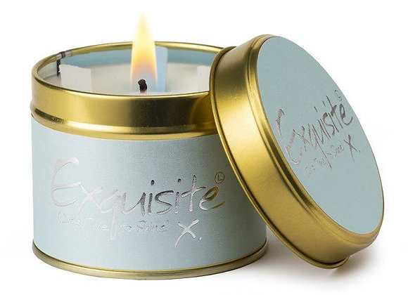 "Lily Flame ""Exquisite"" Oriental Scented Tin Candle"
