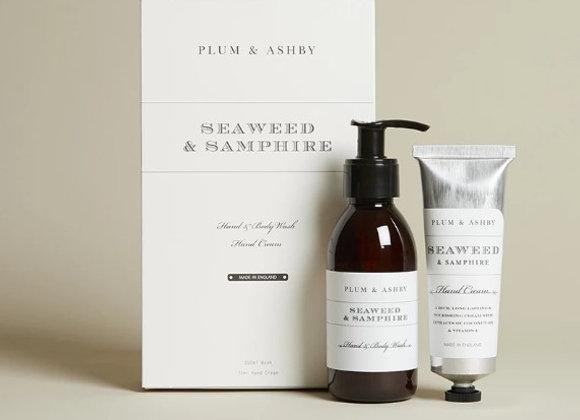 Plum & Ashby Duo Gift Set Seaweed & Samphire Wash and Hand Cream