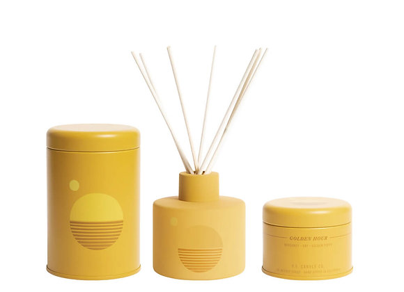 P.F. CANDLE CO. Golden Hour Bundle Candle, Diffuser & Incense Cones